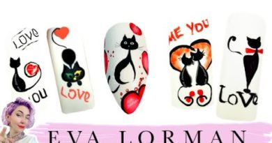 Дизайн-Ногтей-Роспись-ногтей-Уроки-Рисунки-на-Ногтях-Как-рисовать-кошек-ева-лорман